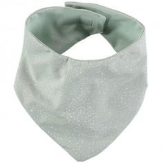 Bavoir bandana Lucky coton bio White bubble Aqua