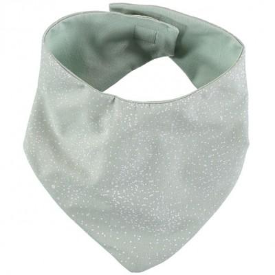 Bavoir bandana Lucky coton bio White bubble Aqua  par Nobodinoz