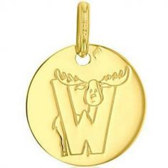 Médaille W comme wapiti (or jaune 750°)