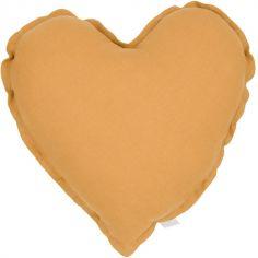 Coussin coeur caramel (40 cm)
