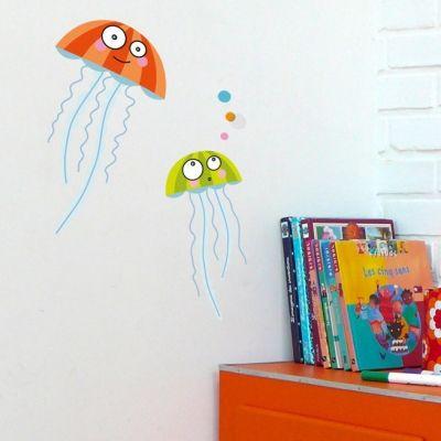 Stickers muraux Les méduses  par Série-Golo