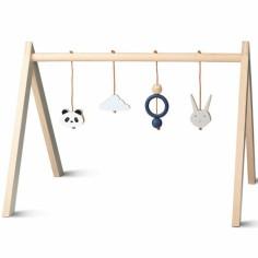 Arche de jeux en bois bleu