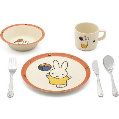 Coffret repas Lapin Miffy coloré (6 pièces)