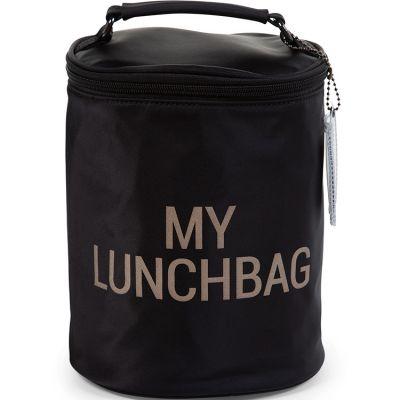 Sac isotherme My lunchbag noir et or  par Childhome