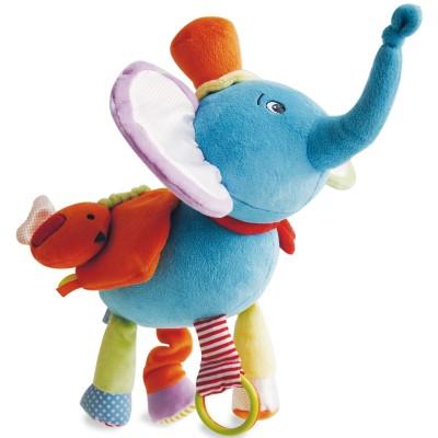 Peluche éléphant et ses multiples activités Doudou et Compagnie