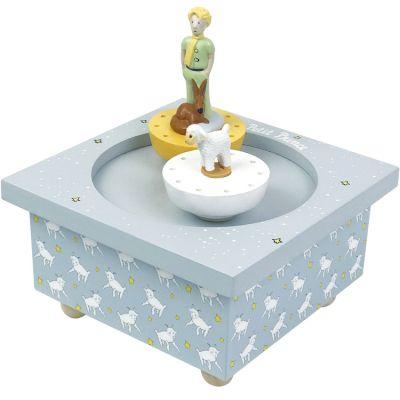 Boîte à musique magnétique Le Petit Prince bleu ciel  par Trousselier