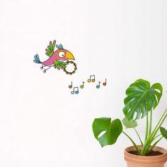 Stickers muraux Perroquet musique
