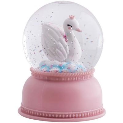 Boule à neige lumineuse cygne  par A Little Lovely Company