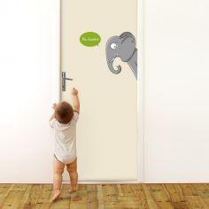 Sticker de porte éléphant (côté droit)