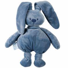 Peluche lapin Lapidou bleu (36 cm)