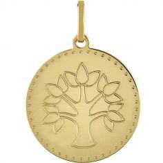 Médaille ronde Arbre de vie (or jaune 750°)