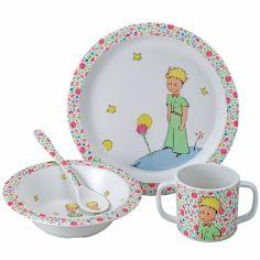 Coffret repas enfant La rose du Petit Prince (4 pièces)