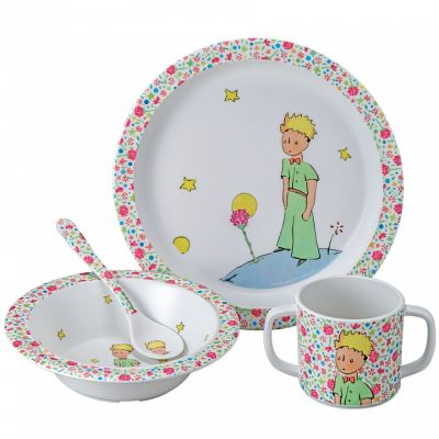 Coffret repas enfant La rose du Petit Prince (4 pièces)  par Petit Jour Paris