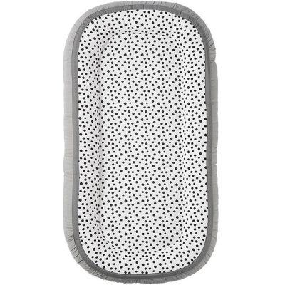 Réducteur de lit Cozy Happy dots gris  par Done by Deer