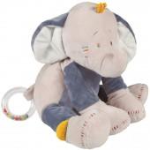 Peluche hochet Bao l'éléphant (25 cm) - Noukie's