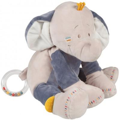 Peluche hochet Bao l'éléphant (25 cm) Noukie's
