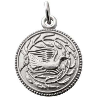 Médaille Colombe et lauriers 18 mm (argent 925°) Martineau