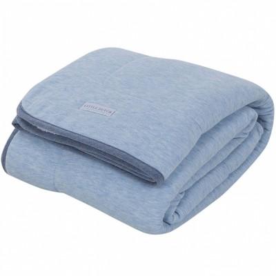 couverture de lit pure soft blue melange 110 x 140 cm. Black Bedroom Furniture Sets. Home Design Ideas
