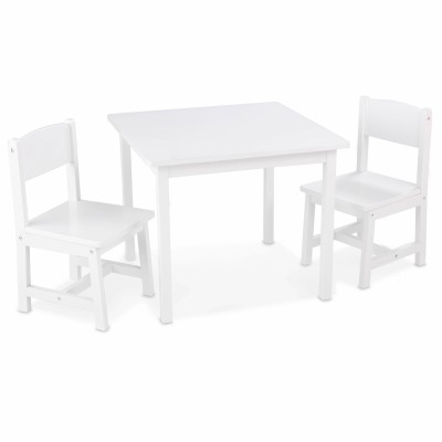 ensemble table et 2 chaises blanc kidkraft. Black Bedroom Furniture Sets. Home Design Ideas