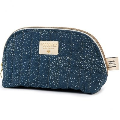 Trousse de toilette Holiday Gold bubble Night blue  par Nobodinoz