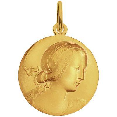 Médaille Vierge de Milan 18 mm (or jaune 750°)  par Monnaie de Paris