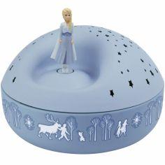 Veilleuse projecteur d'étoiles musical Elsa La Reine des Neiges bleue (12 cm)