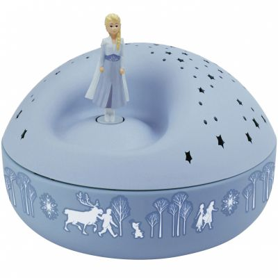 Veilleuse projecteur d'étoiles musical Elsa La Reine des Neiges bleue (12 cm)  par Trousselier