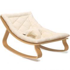 Transat à balancement Levo organic white en bois de hêtre