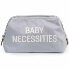 Trousse de toilette Baby necessities gris et blanc