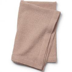Couverture en coton rose Powder Pink (70 x 100 cm)