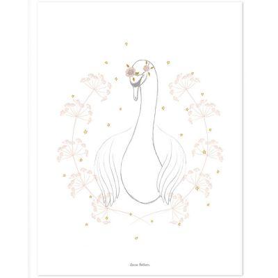 Affiche le cygne (30 x 40 cm)  par Lilipinso