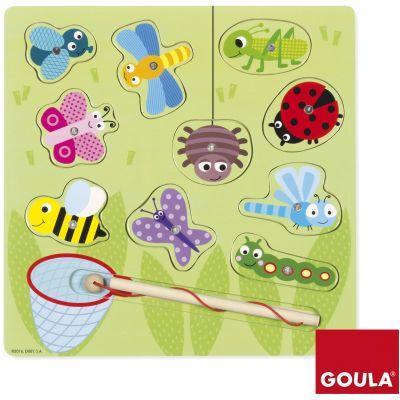 Puzzle La chasse aux papillons et aux petites bêtes (10 pièces)  par Goula
