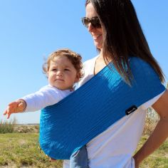 Porte bébé Easy Sling Wacotto bleu électrique (taille L)