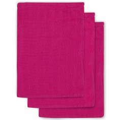 Lot de 3 gants fuchsia