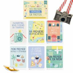 Cartes étapes Mes premiers voyages en photos (6 cartes)