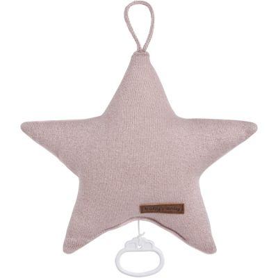 Peluche musicale étoile Sparkle rose (30 cm)  par Baby's Only