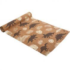 Chemin de table suédine Dinosaure