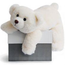 Coffret peluche ours polaire Snow (30 cm)  par Histoire d'Ours
