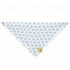 Bavoir bandana Little Chums en mousseline de coton étoiles vert d'eau