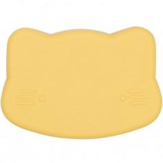 Boîte à goûter 3 en 1 chat jaune