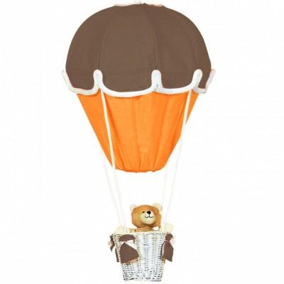 Lampe montgolfière chocolat et orange Domiva