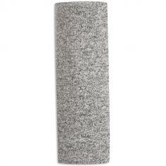 Maxi lange en maille heather grey (120 x 120 cm)