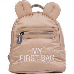 Sac à dos bébé My first bag matelassé beige (24 cm)