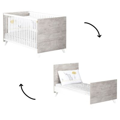 Lit bébé évolutif Little Big Bed Scandi gris (70 x 140 cm)  par Baby Price