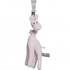 Peluche vibrante girafe à suspendre rose