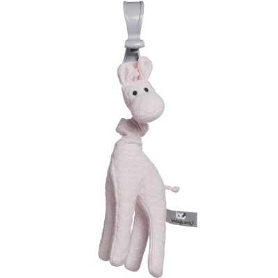 Peluche vibrante girafe à suspendre rose  par Baby's Only
