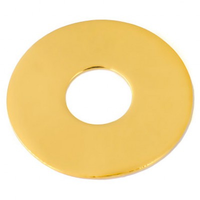 Bracelet empreinte mini pi sur cordon (or jaune 750°)   par Les Empreintes