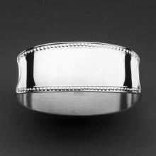 Rond de serviette petites perles (métal argenté 150°)  par Robbe & Berking