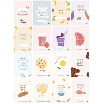Cartes étapes Mes premières découvertes gustatives (16 cartes)  par Ma Petite Assiette