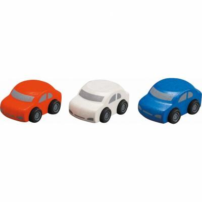 Lot de 3 voitures familiales  par Plan Toys